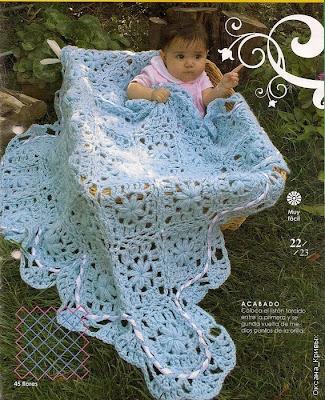 Bellissima copertina all'uncinetto per bimbi.