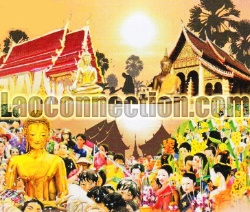 Painting Collage of Lao Culture