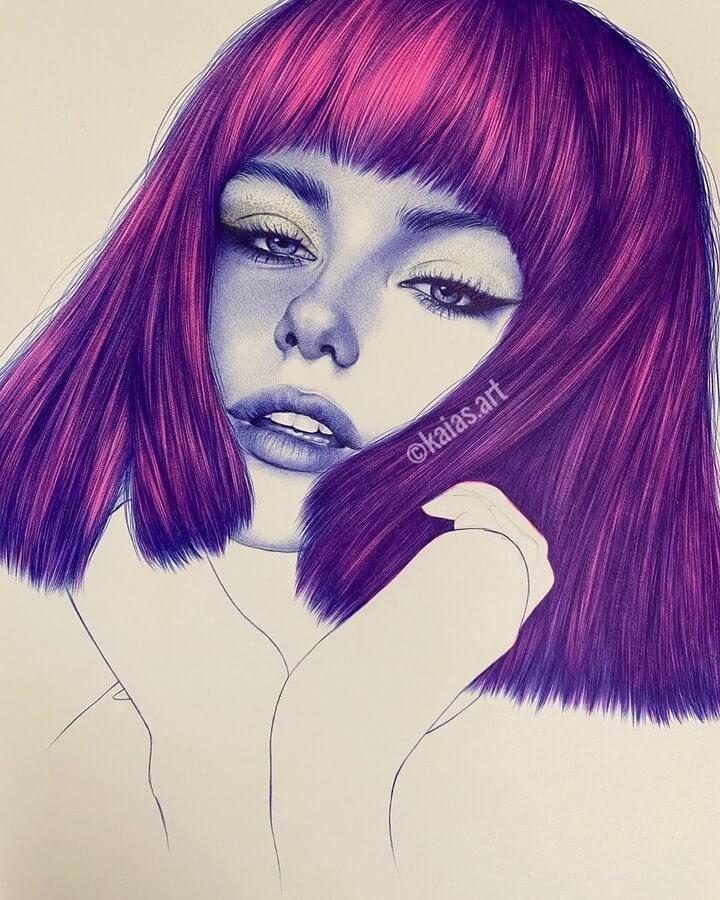 02-Kaia-Ballpoint-Pen-Color-Portraits-www-designstack-co