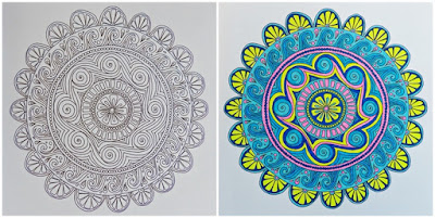 Mandala before and after