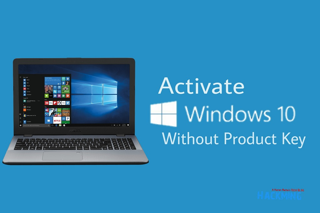 activate windows 10 no product key