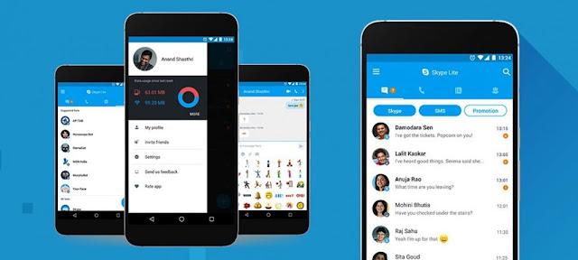 تطبيق skype للأندرويد,