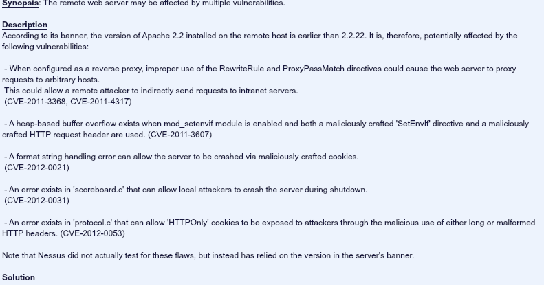 Support Blues: Update Apache and other softwares to their