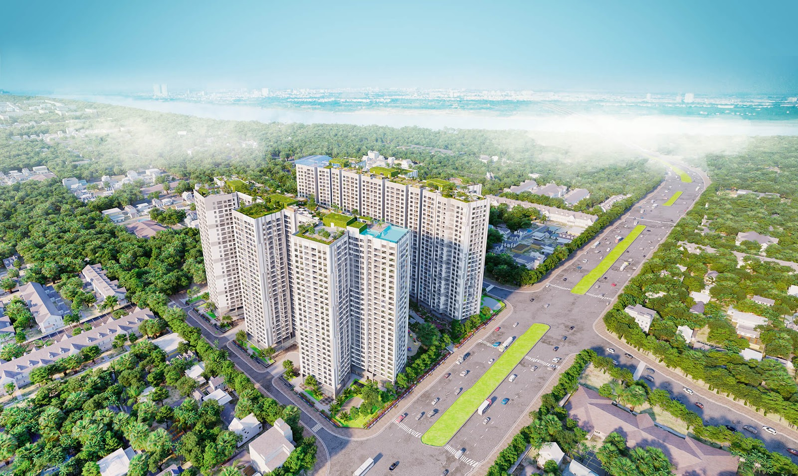 Góc nhìn vẻ đẹp dự án chung cư Imperia Minh Khai Từ trên cao