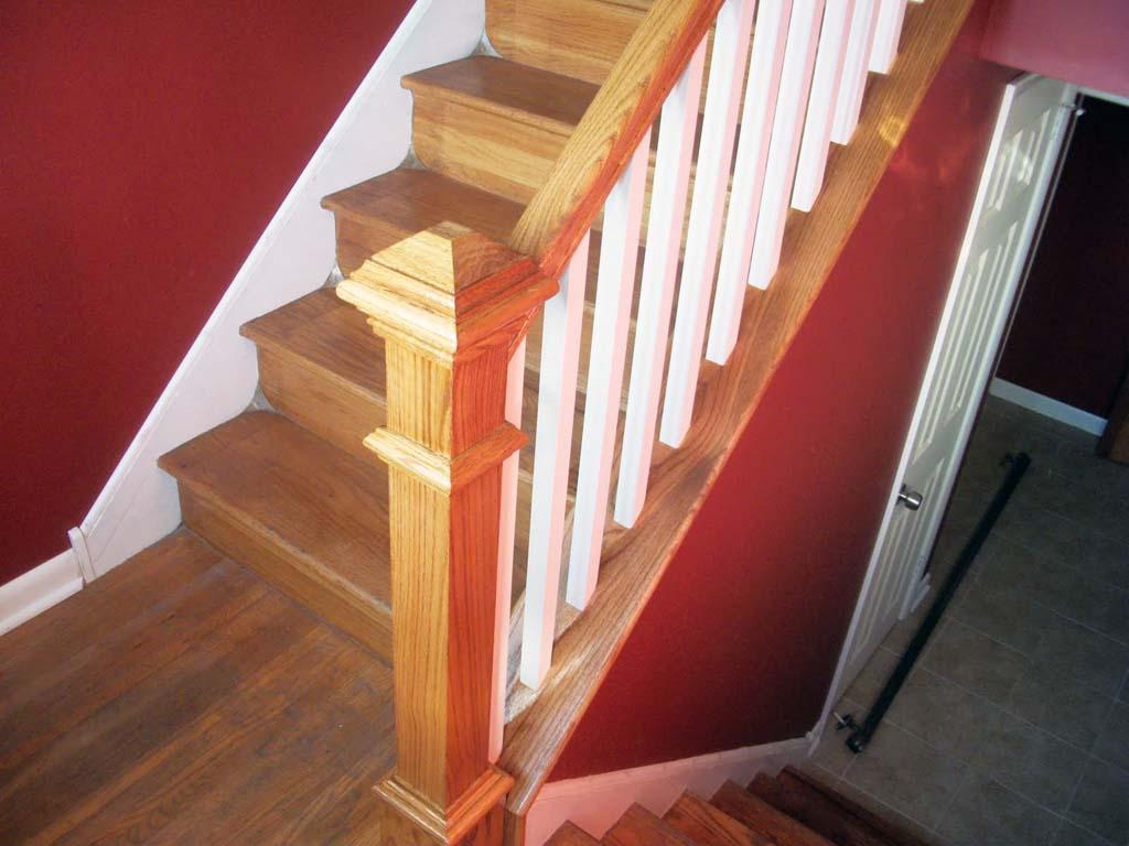how to refurbish interior stair railing ellecrafts. Black Bedroom Furniture Sets. Home Design Ideas
