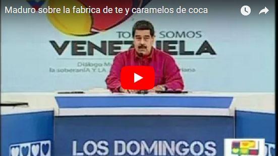 Maduro anuncia creación de fábrica de té y caramelos de Cocaína