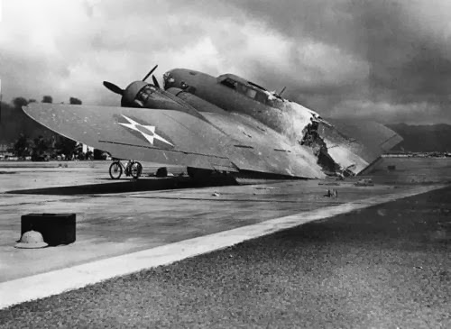B-17 hancur