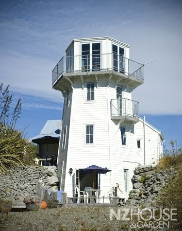 lighthouse home built in New Zealand