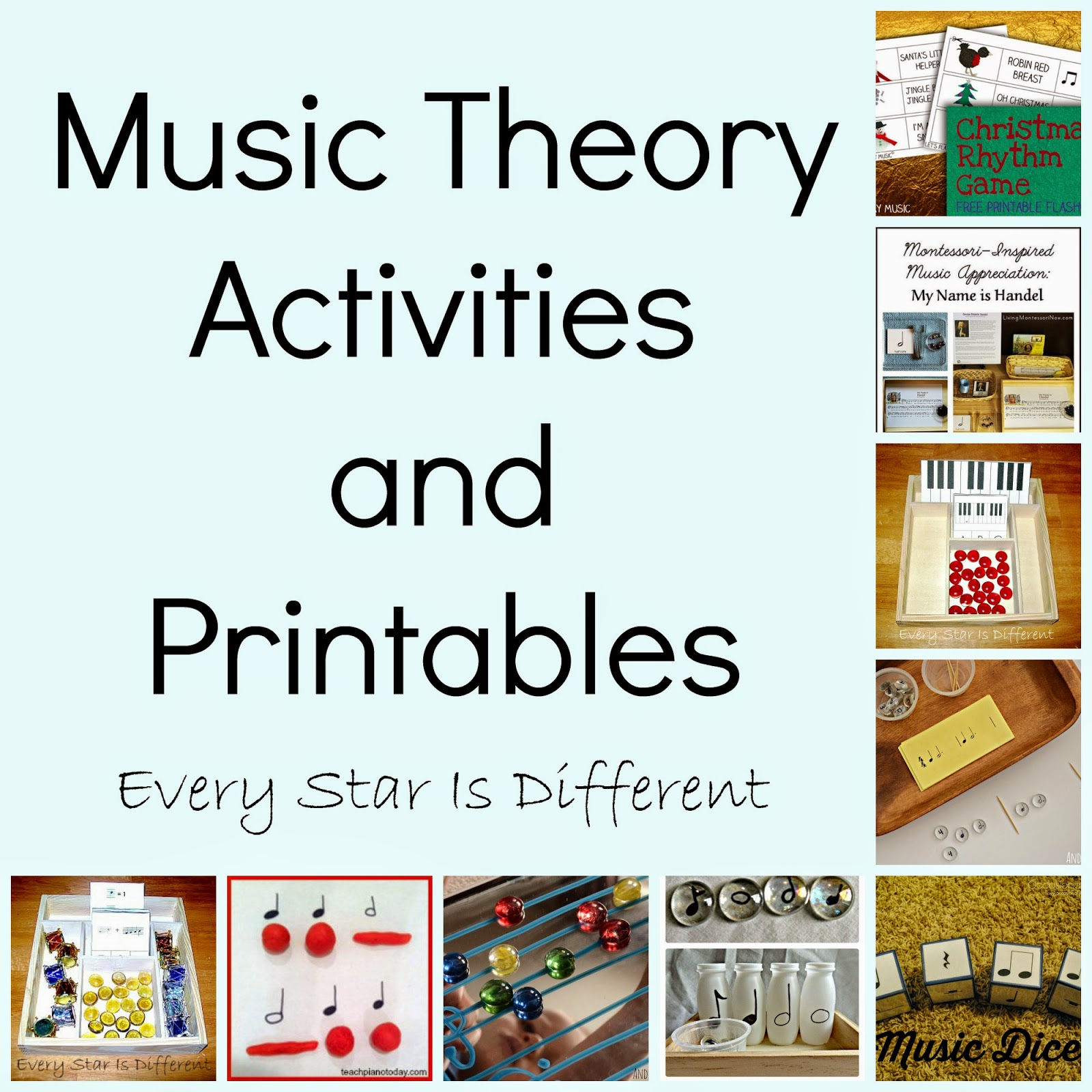 Music Theory Activiites and Printables
