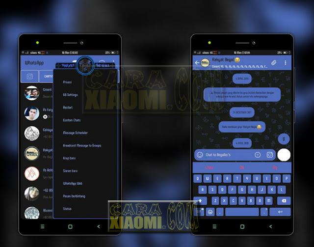 Download Link MIUI Themes CDM Blue Full Dark Mtz Terbaru For Xiaomi V9 Theme