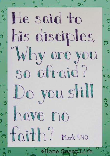 Mark 4:40, Scripture Writing