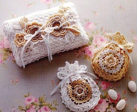 Patrón #1480: Estuches de Adornos a Crochet