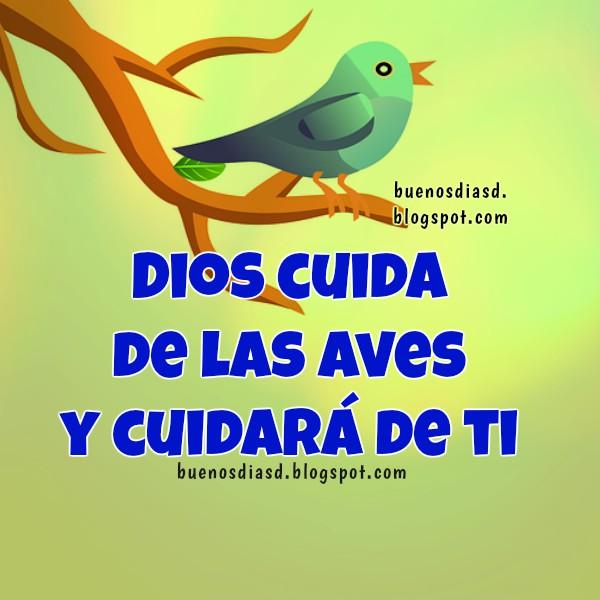 Bonitas Frases de Buenos Días, Dios te cuida por Mery Bracho. Imágenes con mensajes cristianos de la protección de Dios.