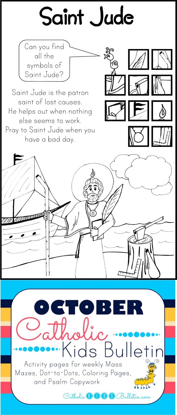 Catholic Kids October Catholic Kids Bulletin