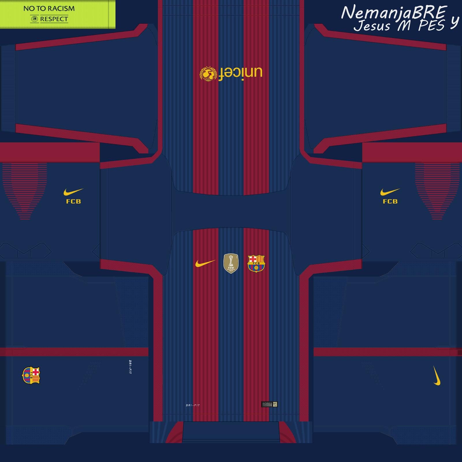 camiseta del barcelona 2019 para pes 6