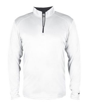 Badger 2102 B-Core Youth Quarter-Zip Pullover - Graphite/ Black - M