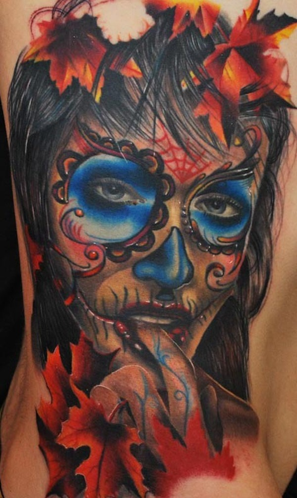 60 day of the dead tattoos you will want to get asap - 600×1007