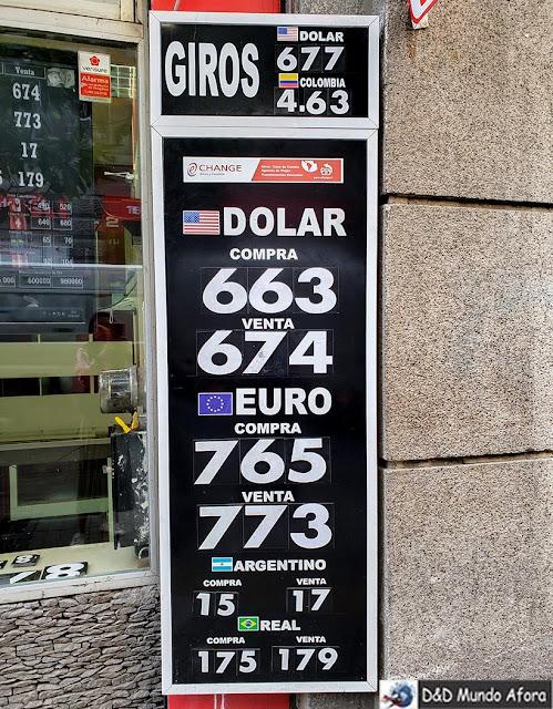 Câmbio na Rua Agustinas - Diário de Bordo Chile: 8 dias em Santiago e arredores