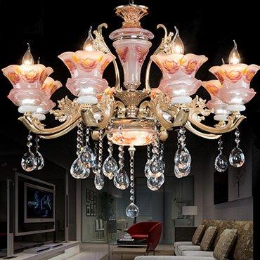 Những lý do lựa chọn đèn chùm pha lê nến nhập khẩu cho không gian phòng khách