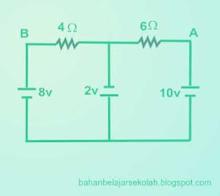 Sebuah keluarga menyewa listrik PLN sebesar  MODEL SOAL SBMPTN LISTRIK DINAMIS, RANGKAIAN & HUKUM KIRCHOFF