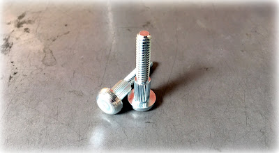 Custom Knurled Shoulder Bolts - 41L40 Material With Zinc & Clear Finish