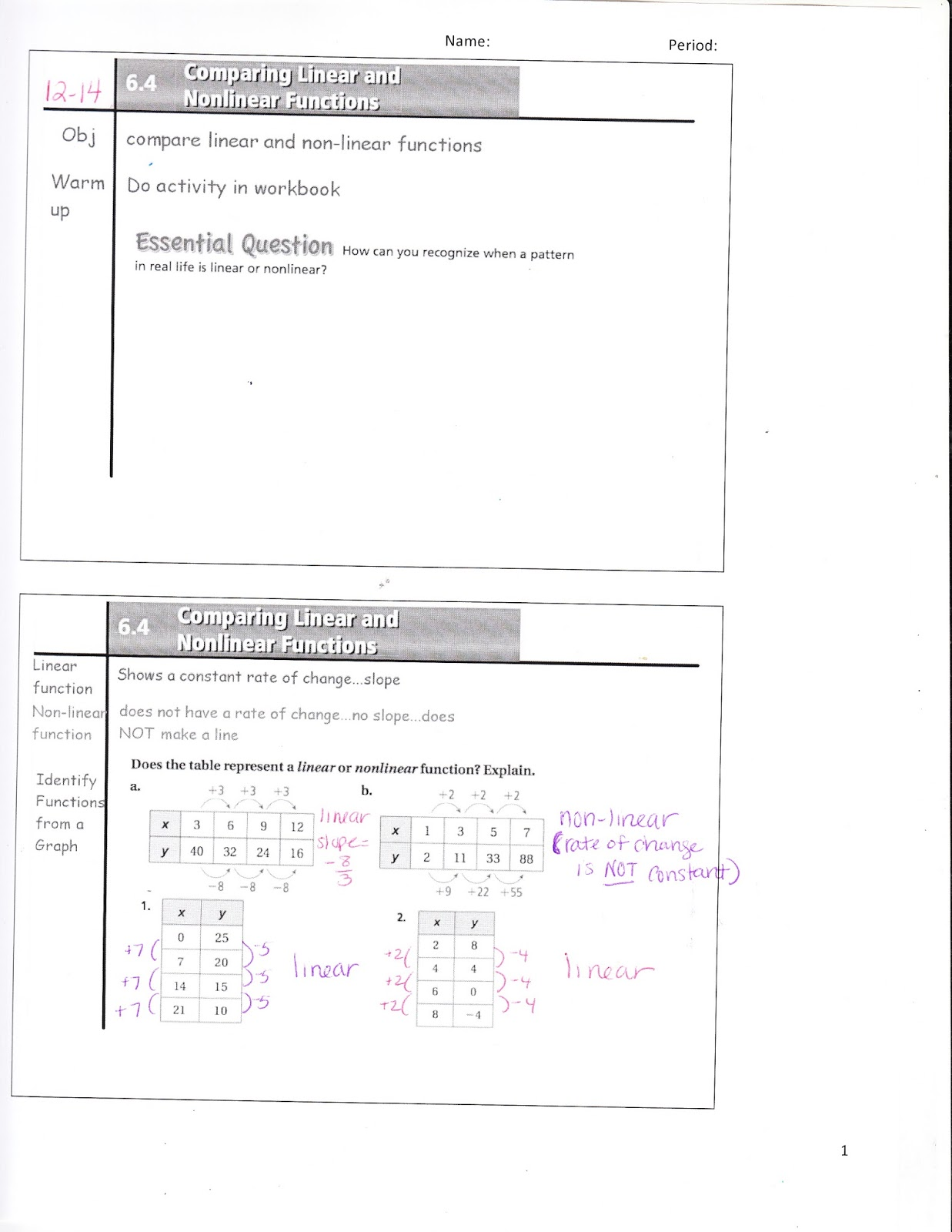 Ms Jean S Accel 7 Blog Accel 6 4 Comparing Linear And