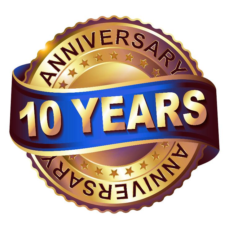10 Year Anniversary Milestone Bigoo