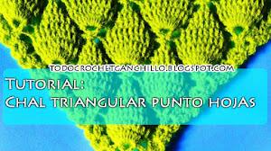 Tutorial / Cómo tejer chal punto hojas en relieve