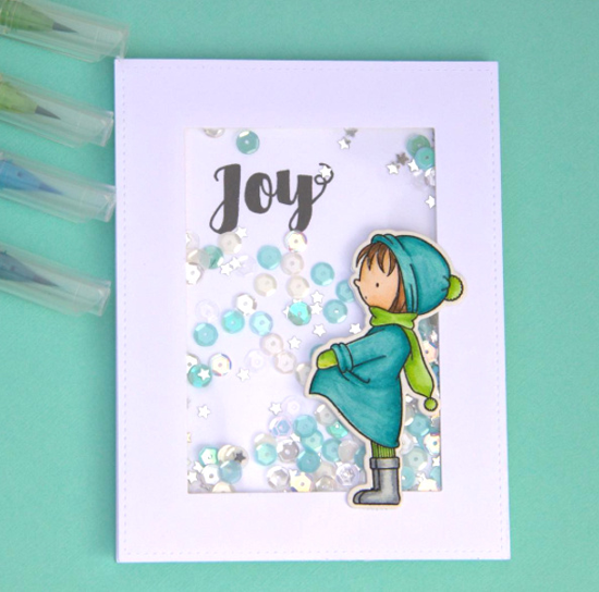 Joyous Christmas Sentiments stamp set and Birdie Brown Warmest Wishes stamp set and Die-namics - Susan Wuthrich #mftstamps