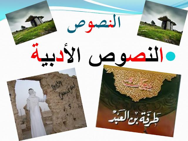 شرح قصيدة من معلقة طرفة بن العبد