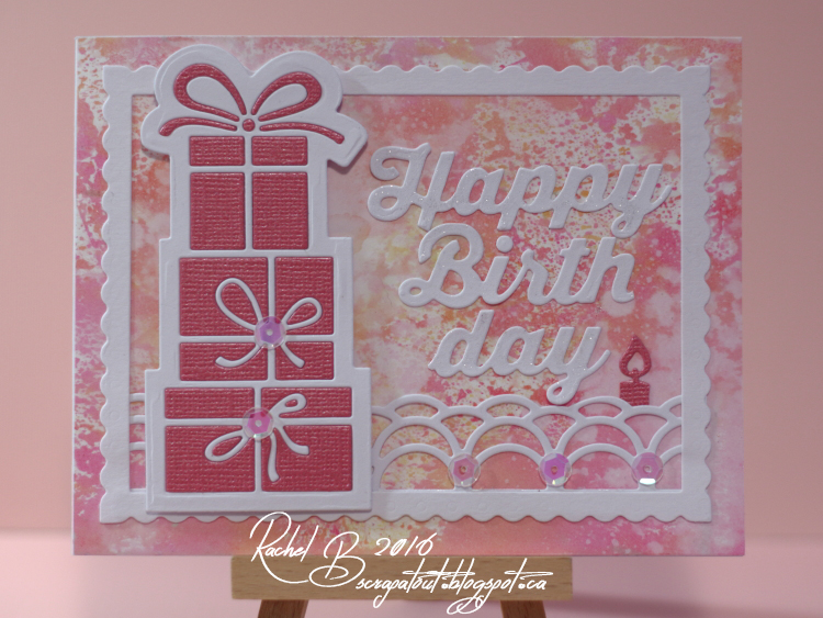 Scrapatout - Handmade card, Impression Obsession, Birthday, Gift stack