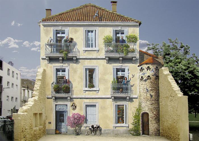 French Artist Transforms Boring City Walls Into Vibrant Scenes Full Of Life - Juliette et les esprits