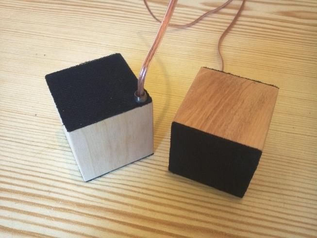 Naklojik Wooden Dipole Cube Speakers