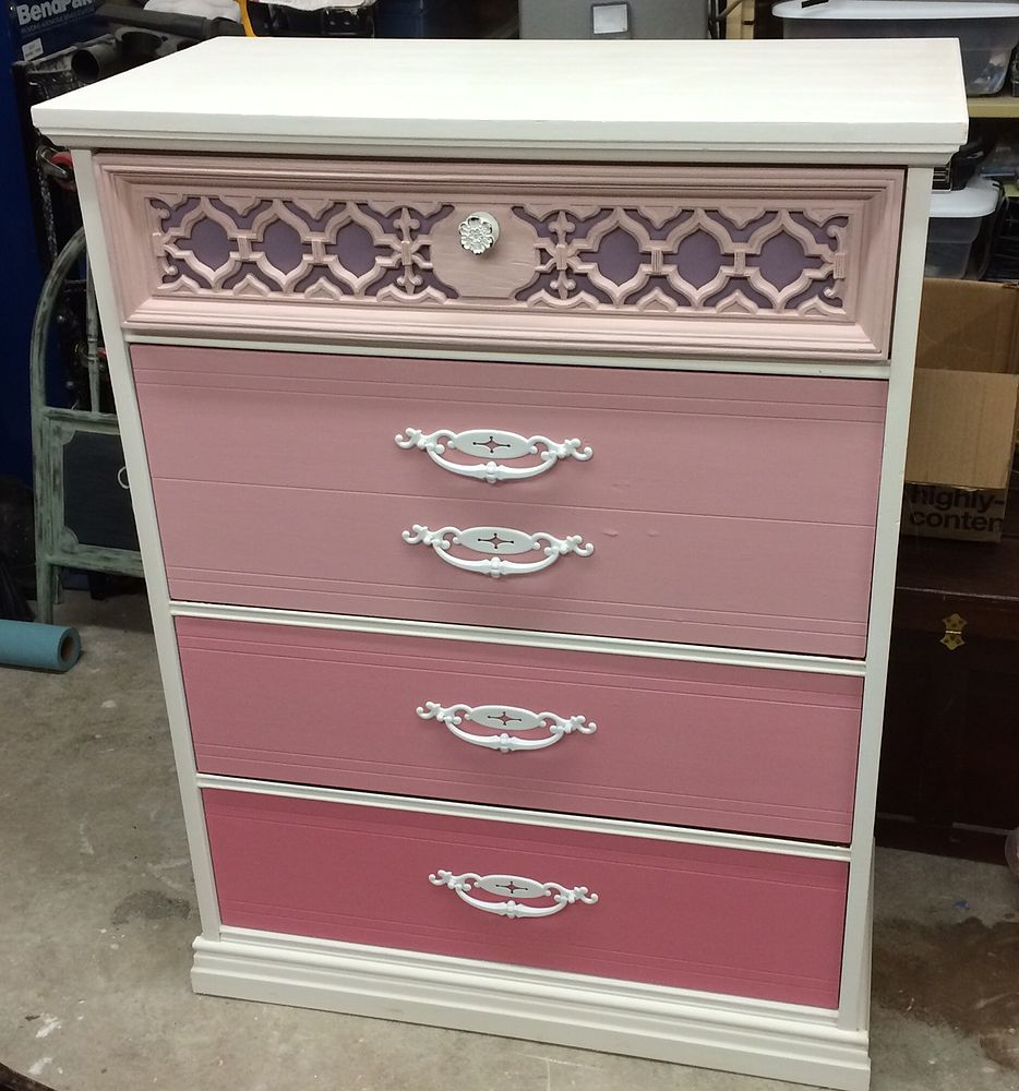 Ombre Coral Dresser
