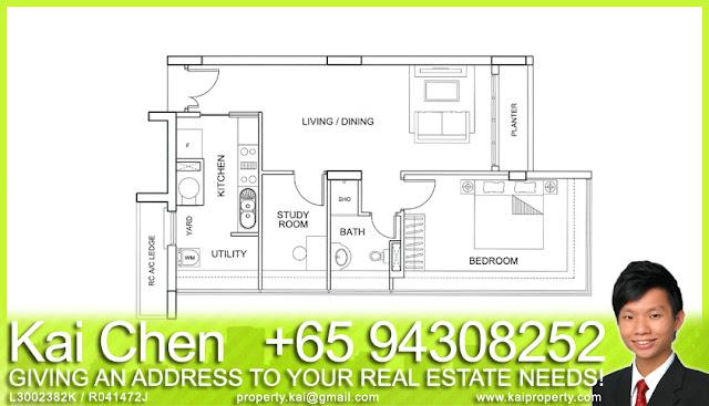Fortville Service Apartment Singapore - Floorplan