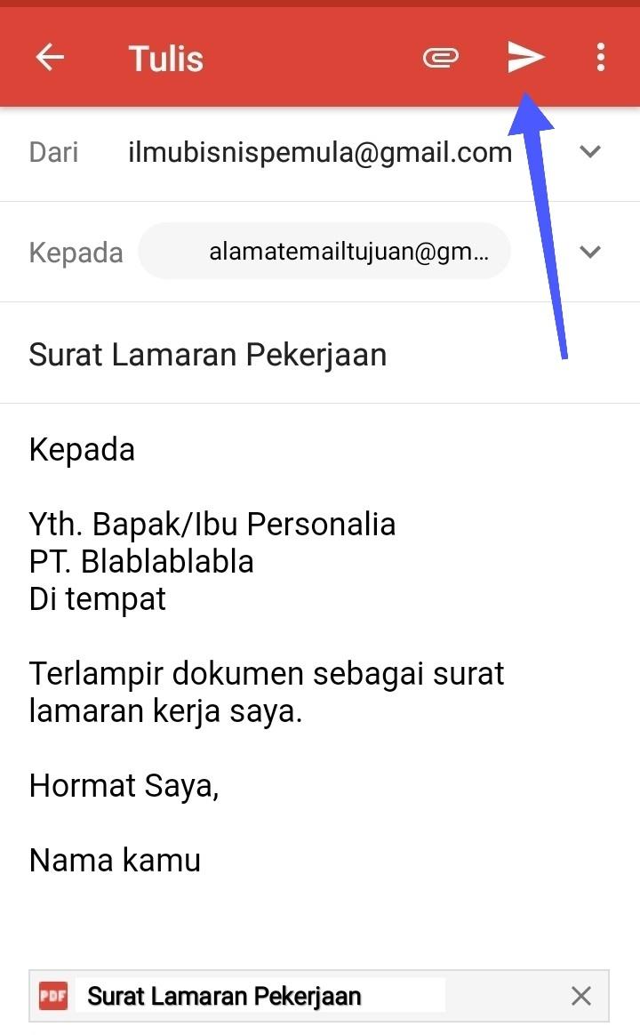 Cara Mengirim Surat Lamaran Kerja Lewat Email Dari Hp Android