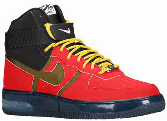 info for 2ad33 93491 This is the Nike Air Force 1 High Supreme Bakin . Coming in a university red  and black colorway, inspired by the original Nike Air Bakin , which is also  set ...