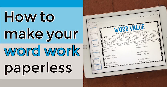 How to make your word work in word study paperless