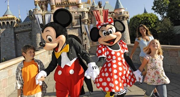 Parques da Disney com as crianças em Los Angeles