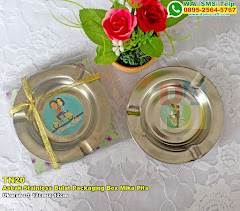 Asbak Stainless Bulat Packaging Box Mika Pita