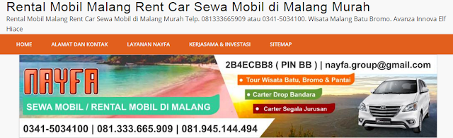 Website Sewa Mobil Malang by NAYFA Group
