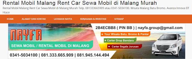 Website Sewa Mobil Malang by NAYFA Group