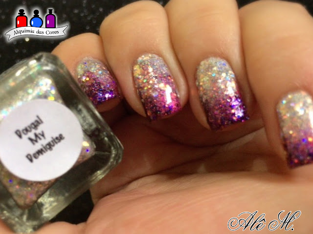 Glam Polish, What Would Buffy Do?, Dougal my demiguise, Magenta, Roxo, Prata, Glitter, Inverno