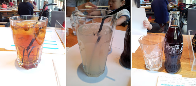 Wagamama, Peach Iced Tea, Ginger Beer