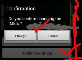how to change tecno W4 imei