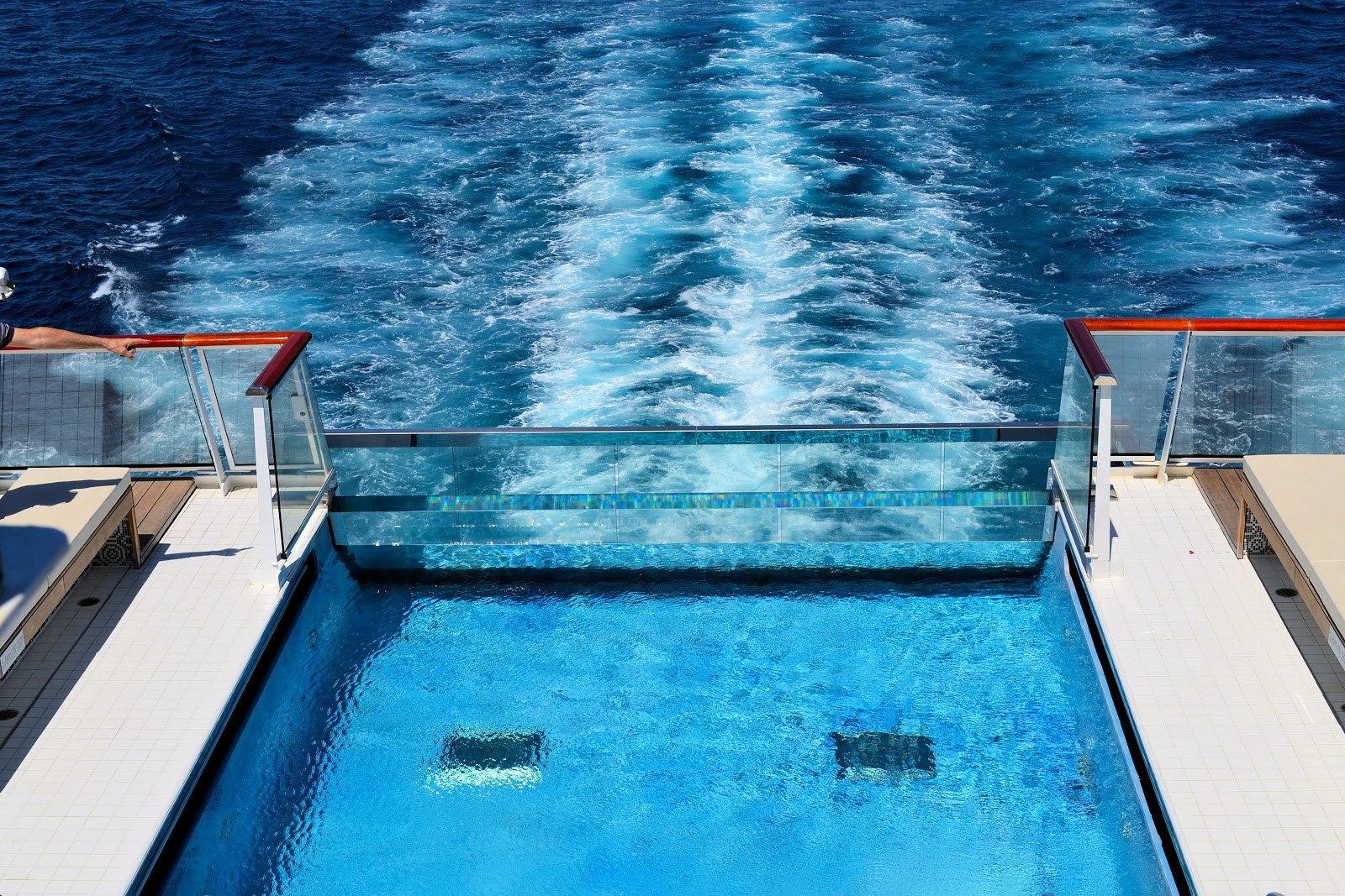 For the ultimate in destination immersion, head to the industry's first infinity pool on Deck 7 aft.