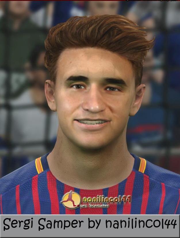 PES 2017 Sergi Samper (FC Barcelona) Face by nanilincol44