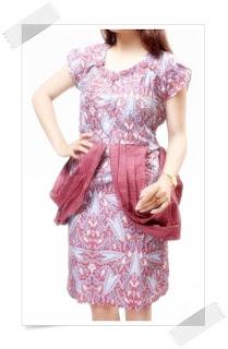 Batik Kombinasi Model Dress Batik Terbaru