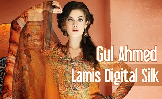 c778638242 Gul Ahmed has once again dazzled the fashion industry by launching its Lamis  Digital Silk Collection 2014. The Gul Ahmed Digital Silk collection has  been ...
