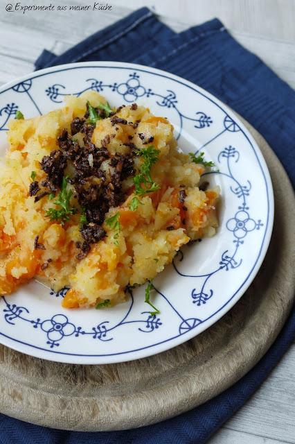 Experimente aus meiner Küche: Kartoffel-Möhren-Stampf mit braunen Zwiebeln